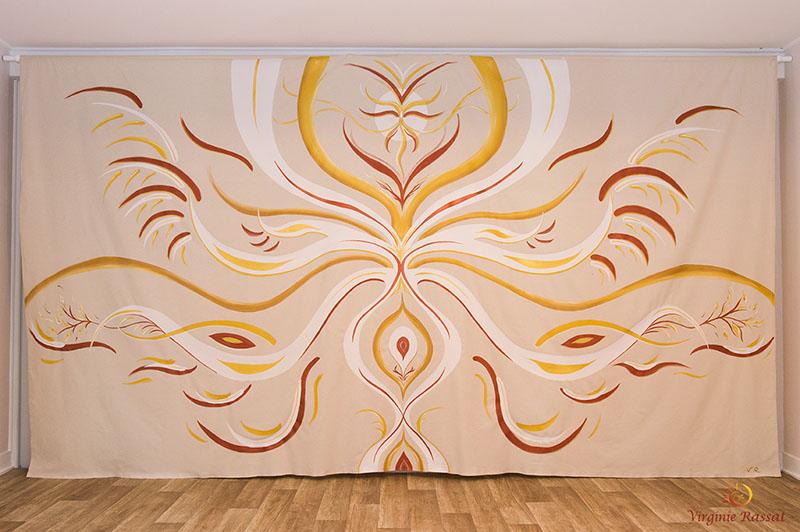 Réalisation pour un espace de soin, Acrylique sur tissu, 300x200 cm, Nîmes